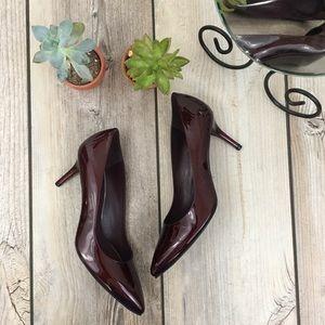 Stuart Weitzman Patent Finish Oxblood Heels
